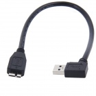 ULT-4221 USB 3.0 A Male to Micro B Vertical Angle Converter Cable w/ Hole Up - Blue (30CM-Length)