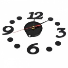 DIY-Clock Number Adhesive Wall Sticker Clock - Black
