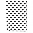 360' Rotation Stylish Polka Dot Pattern Protective PU Case w/ Stand for Ipad MINI 2 - White + Black