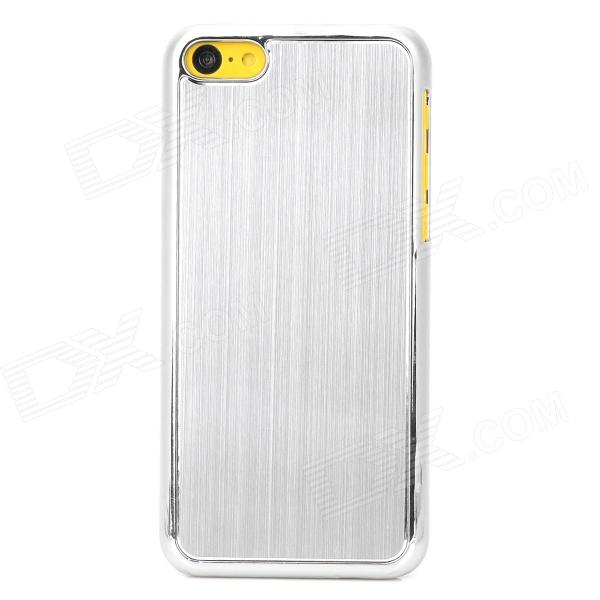Protective Brushed Aluminum Alloy + Plastic Back Case for Iphone 5C - Silver