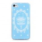 Fashionable Marry-Go-Round Pattern PC + Soft Enamel Magnetic Back Case for Iphone 4S / 4 - Blue