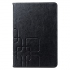 Protective Flip Open PU Leather + Plastic Case w/ Stand / Card Slots for Ipad MINI - Black