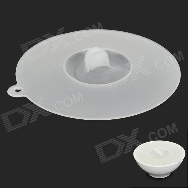 Silicone Cup Bowl Cover Lid - Translucent White