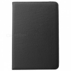 360' Rotation Lichee Pattern Protective Flip Open PU Case w/ Stand for Ipad MINI 2 - White + Black