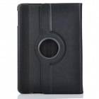 360 Degree Rotating Protective PU Case w/ Stand for Ipad 5 - Black