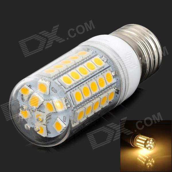 E27 7W 500lm 3300K 360' Wide Angle Warm White LED Light - Silver + White