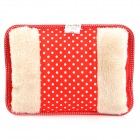 A072 Plush Printing Electric Hot-water Bag - Red