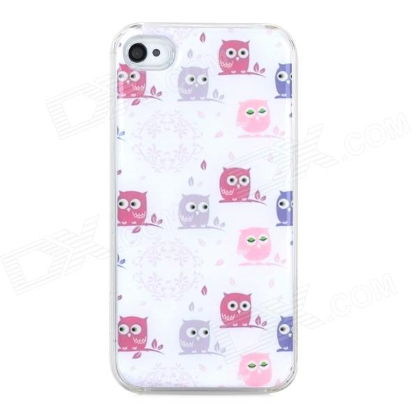 Owl Pattern Protective Plastic + Epoxy Back Case for Iphone 4 / 4S - White other tamehome 2015 1 4 hifi