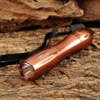 JULIANG LED-526A Portable LED 40lm White Flashlight w/ Strap - Brown (1 x AA)