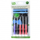 11-in-1 UD6011 Multifunction Metal + ABS Screwdriver Set for Iphone / Ipad - Multicolored