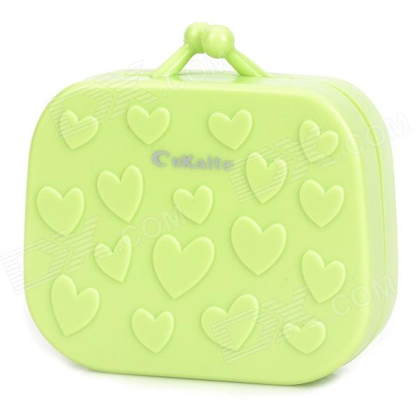 CnKaite A078 Cute 3D Heart Pattern Contact Lenses Box - Green - DXLifestyle Gadgets<br>Brand CnKaite Model A078 Quantity 1 piece(s) per pack Color Green Material Plastic Specification Clean the forceps and container before use; Vial can not clean with detergent soap; Eye therapists suggest change box every three months Packing List 1 x Contact lenses box 1 x Forceps 1 x Vial 1 x Pair of container<br>