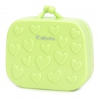 CnKaite A078 Cute 3D Heart Pattern Contact Lenses Box - Green