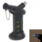 MENGHU 4675 High Quality Windproof Dual Outlet Lighter w/ Cover & Base - Black + Green