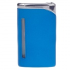 6471 Fashionable Business Green Flame Butane Lighter - Blue