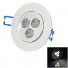 HESION HS02003 3W 270lm 6000K LED White Ceiling Light - Silver (85~265V)