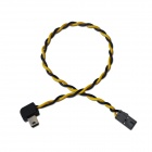 USB 90 Degree Connector to FPV AV Video Output Cable for Gopro Hero 3 - Black + Yellow