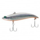 YUDIAOXUAN Double Hook Plastic Lifelike Fish Style Lure Bait for Fishing - Silver + Orange