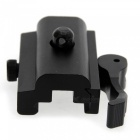 Aluminium Alloy QD 20mm Quick Release Mount Adapter for Bipod Mount Laser Scope Hunting - Black