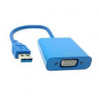 CY U3-125 USB 3.0 Male to VGA Female Video Graphic Card Display Adapter Cable for Windows 7 / 8