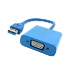 CY U3-125 USB macho a hembra adaptador de cable para Windows 7.8 - Azul