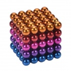 CHEERLINK BG-125 de 5 mm de neodimio hierro DIY juguetes educativos Set - multicolor (125 PCS)