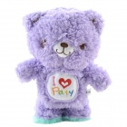 SYVIO Walking & Talking Cute Sound Recording Bear - Purple (3 x AAA)