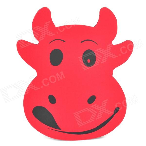 Stylish Cartoon Cow Style EVA + Fabric Mouse Mat Pad - Red + Black