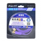 Dtech DT-63F03 5Gbps USB 3.0 Male to USB 3.0 Standard-B Male Data Cable - Purple + Golden (180cm)