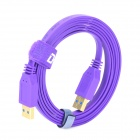 Dtech DT-63F01 3.2Gbps USB 3.0 Male to Male Data / Charging Cable - Purple + Golden (180cm)