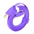 Dtech DT-63F04 5Gbps USB 3.0 Male to USB 3.0 Micro B Type Male Data Cable - Purple + Golden (180cm)