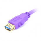 Dtech DT-63F02 5Gbps USB 3.0 Male to USB 3.0 Standard-A Male Data Cable - Purple + Golden (180cm)