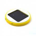 Arredondamento Solar Recarregável 1800mAh Li-ion Power Bank para Celular / Iphone - Amarelo
