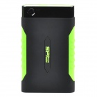 "SP A15 Anti-shock Portable 5Gb/s USB 3.0 2.5"" Hard Drive / HDD - Black + Green (500GB)"