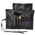 3concept eyes Professional 9-in-1 Artificial Wool Cosmetic Brush Tool w/ Storage Bag - Black