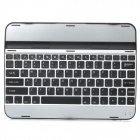 Rechargeable 83-Key Bluetooth V3.0 Wireless Keyboard for Samsung Galaxy Tab 3 P5200 - Black + Silver