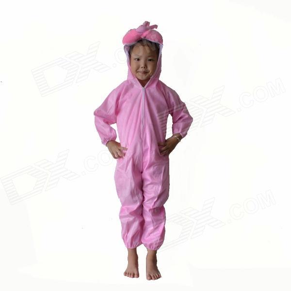Kids Bunny Rabbit Polyester Costume - Pink