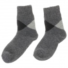 Winter Casual Men's Thickened Warmer Rabbit Wool Cotton Socks - Deep Grey + Light Grey + Black(Pair)