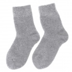 Winter Casual Men's Thickened Warmer Rabbit Wool Cotton Socks - Light Grey (Pair)