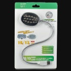 Flexible Neck USB Powered 13-LED Bright White Light for Laptop