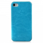 Joyroom Upholstered Protective Plastic Back Case for Iphone 4 / 4S - Blue