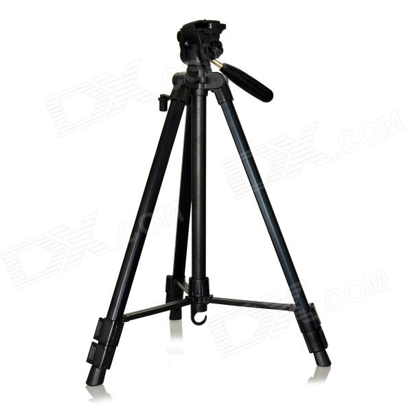DSTE DT02017 Retractable Tripod w/ Three-dimensional Head for Digital Camera / Camcorder - Black comprehensive three dimensional cbct analyses of the tm joint