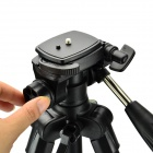 DSTE DT02017 Retractable Tripod w/ Three-dimensional Head for Digital Camera / Camcorder - Black