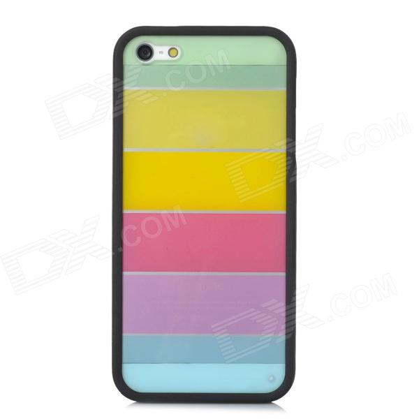 все цены на Ultrathin Colorful Protective Plastic + TPU Back Case for Iphone 5 / 5s - Black + Multicolor онлайн