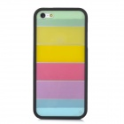 Ultrathin Colorful Protective Plastic + TPU Back Case for Iphone 5 / 5s - Black + Multicolor