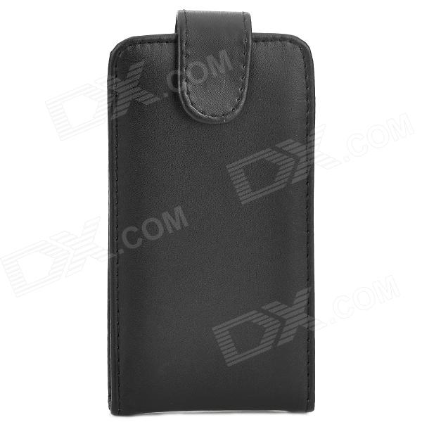 Protective Top Flip Open PU Leather Case for Samsung Galaxy Xcover 2/S7710 - Black