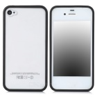 Ultrathin Protective PVC Back Case for Iphone 4 / 4S - Transparent + Black