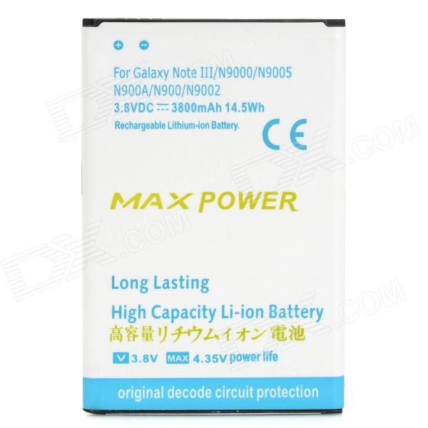Replacement 3800mAh Li-ion Battery for Samsung Galaxy Note 3 / N9006 / N9005 / N9000 pisen mobile phone replacement 3200mah battery for samsung galaxy note 3 n9002 9006 9008 9009