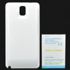 "Replacement ""7800mAh"" Li-ion Battery + Plastic Back Case for Samsung Galaxy Note 3 / N9000 - White"