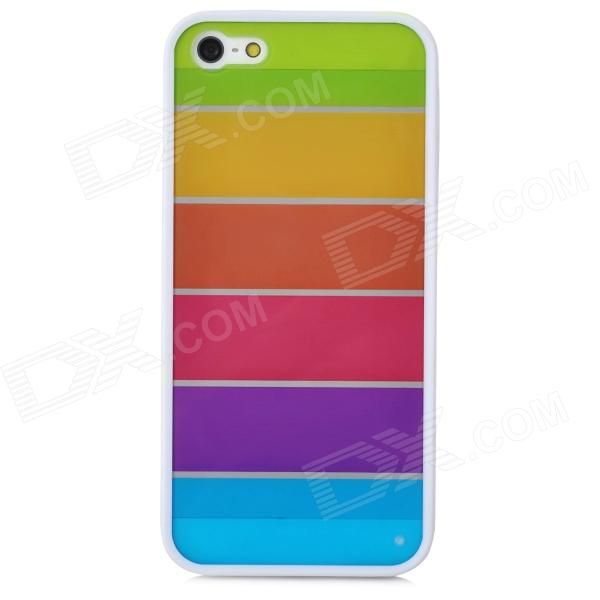 все цены на Ultrathin Colorful Protective Plastic + TPU Back Case for Iphone 5 / 5s - White + Multicolor онлайн