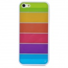 Ultrathin Colorful Protective Plastic + TPU Back Case for Iphone 5 / 5s - White + Multicolor